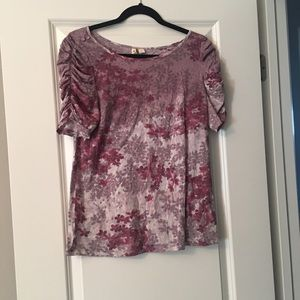 Anthropologie ruched sleeve T-shirt size large